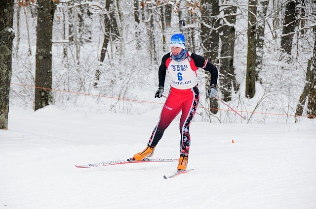 lyžařka na běžkách