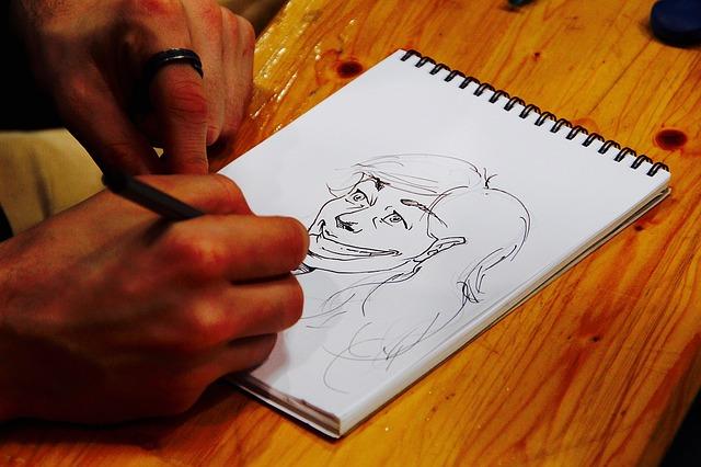 kreslení portrétu