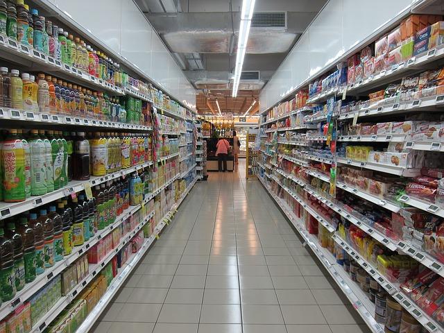 zboží v marketu