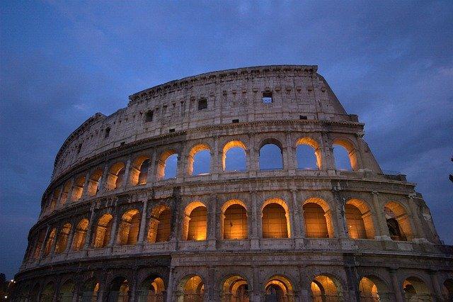 osvícené Koloseum